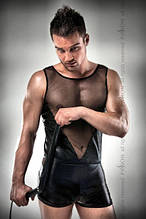 016 SET мужской эротический костюм black S/M - Passion