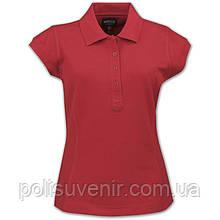 Сучасна жіноча сорочка-поло приталена