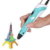 3D ручка c LCD дисплеем 3D Pen-2 Бирюзовая