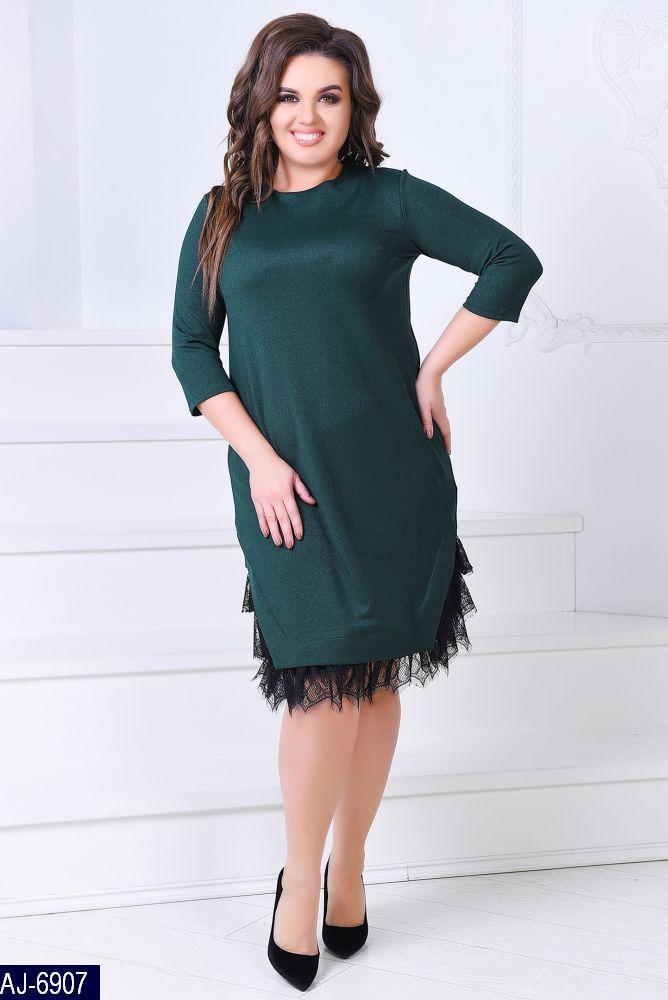 3f2aa158ddc Прямое трикотажное платье люрекс с кружевом - купить по лучшей цене ...