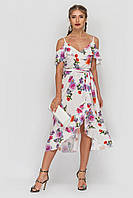 Платье Tess Dress Бони 1604 48 ukr Белое с принтом (2946890082062)