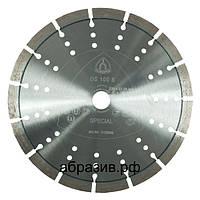 Алмазный отрезной круг Klingspor DS 100 B для резки абразивов, армированного бетона 230мм