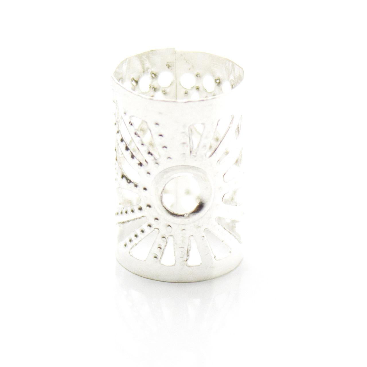 Трубочка для украшения дредов и косичек Little Sun серебро