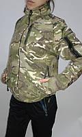 YO7521 Кофта чолов. тактична фліс на блискавці камуфляж р.46
