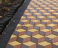 Тротуарная плитка Ромб (цветной) 180х180х60 мм