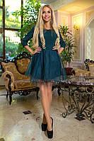 Платье / креп костюмный, сетка, фатин / Украина 40-1619, фото 1