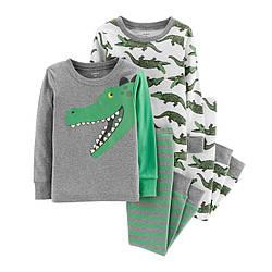 Комплект хб пижам Carters (Картерс) Крокодил
