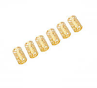 Трубочка для украшения дредов и косичек Little Sun золото, фото 1