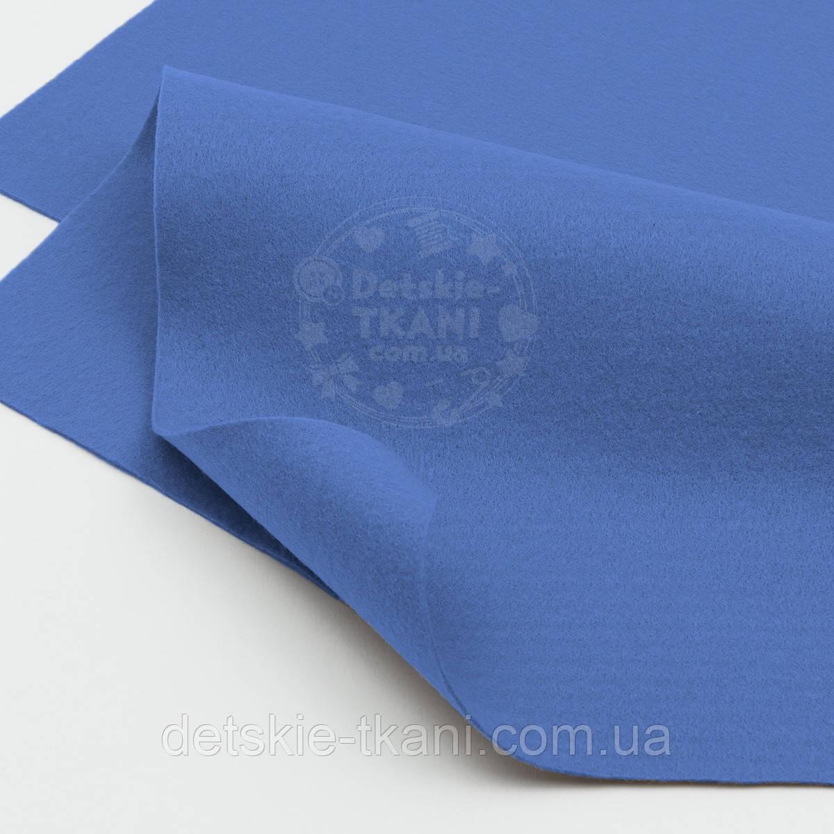 Мягкий листовой фетр светло-синего цвета 20*30 см (ФМ-29)