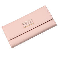 Женский кошелёк Baellerry тройного сложения из экокожи розовый, фото 1