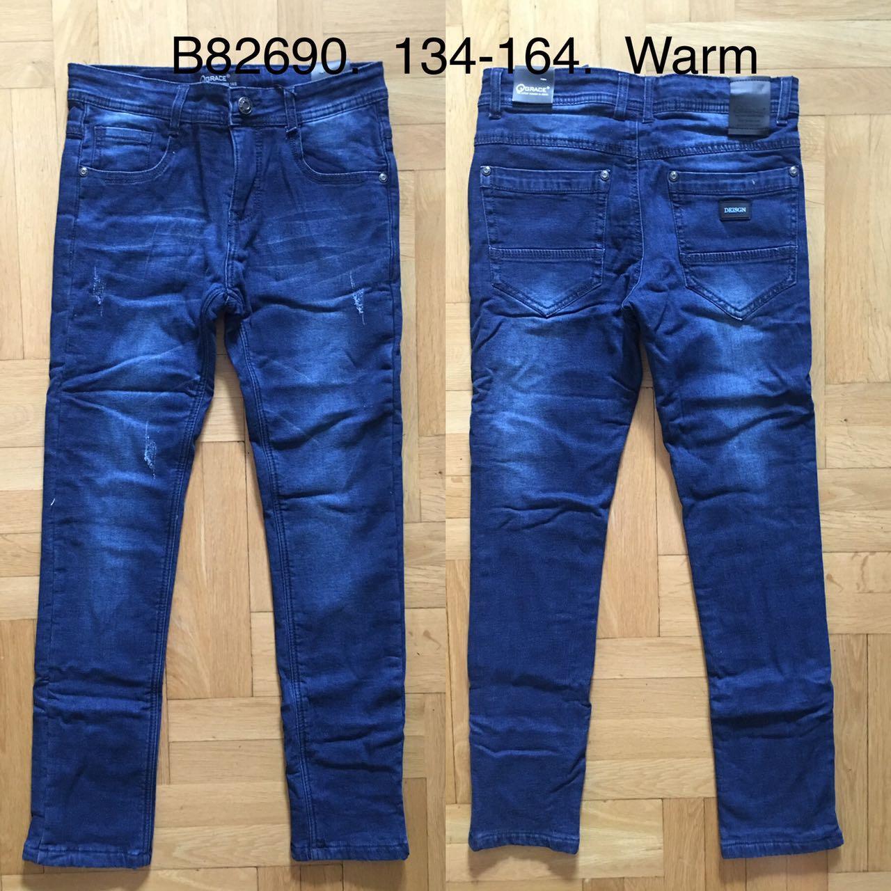 Джинсовые брюки утепленные для мальчиков  Grace 134-164 р.р.