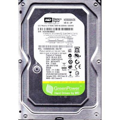 Накопитель HDD SATA  500GB WD AV-GP 32MB (WD5000AVDS) гар. 12 мес.