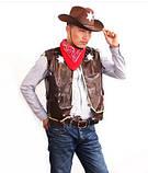 Шляпа Шерифа фетр (черная), фото 5