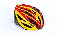 Шлем защитный с механизмом регулировки (EPS, PE, р-р L-54-56)