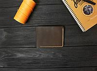 Мужской бумажник из кожи ручной работы VOILE mw9-kbrn-org