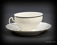 Набор чайный Thun Bernadotte (Обводка золото) на 6 персон 12 предметов 205мл d10 см h6 см фарфор (311011M з)