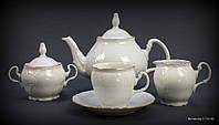 Чайный сервиз Thun Bernadotte (Обводка золото) на 6 персон 17 предметов 240мл фарфор (311011M з)