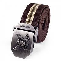 Тактический мужской ремень для брюк Tactical Marines коричневый