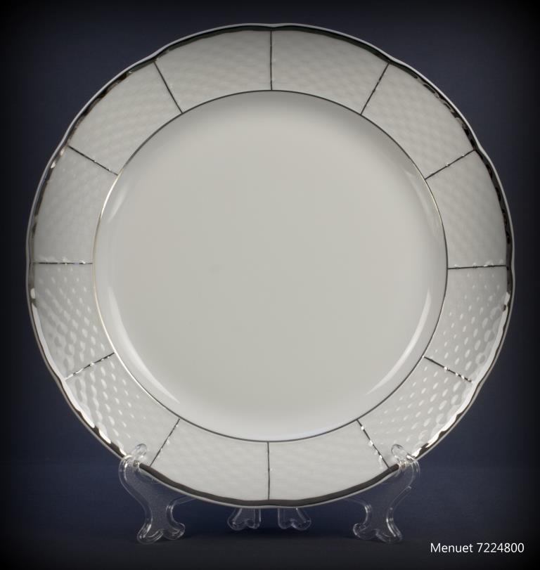 Тарелка десертная Thun Menuet (Обводка платина) 6 штук d19 см фарфор (7224800)