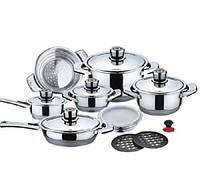 Набор посуды 16 предметов нержавейка Maestro