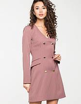 Женское деловое двубортное платье(5122-5123-5121ie), фото 2