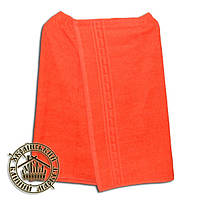 Парео банное махровое (140*70см) оранжевое