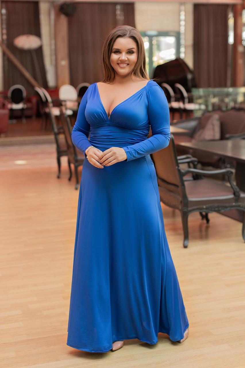 Платье  БАТАЛ  в пол в расцветках 05447А
