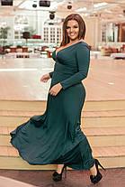 Платье  БАТАЛ  в пол в расцветках 05447А, фото 3