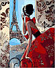 Раскраска по номерам Утро в Париже Худ Биддл Триш (VP341) 40х50 см