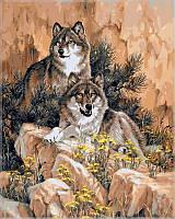 Раскраска по номерам Волки худ Феннинг Ларри (VP345) 40х50 см, фото 1