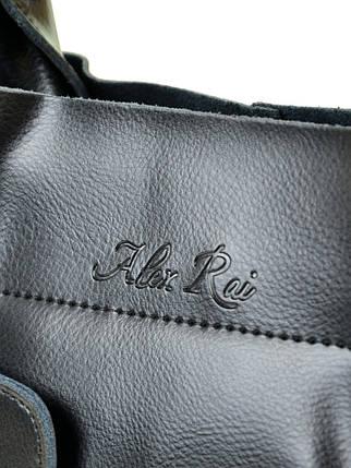 Сумка Женская Классическая кожа ALEX RAI 10-03 8546 black, фото 2