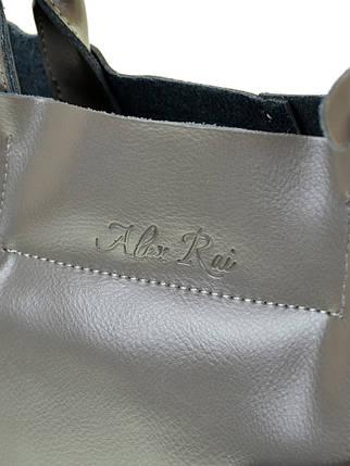 Сумка Женская Классическая кожа ALEX RAI 10-03 8546 grey, фото 2