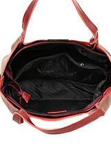 Сумка Женская Классическая кожа ALEX RAI 10-03 8622 pearl-wine-red, фото 3