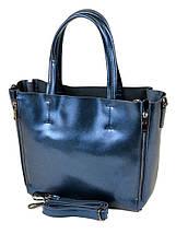 Сумка Женская Классическая кожа ALEX RAI 10-03 8650 blue, фото 2
