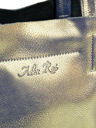 Сумка Женская Классическая кожа ALEX RAI 10-03 J003 ash-gold, фото 2