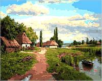 Раскраска по номерам Околица худ Огурцов Андрей (VP349) 40х50 см, фото 1