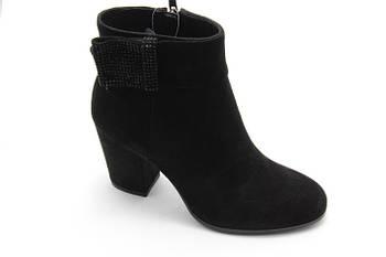 Черные элегантные ботинки Battine B522