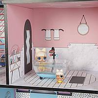 Домик для кукол ЛОЛ Сюрприз Модный особняк с бассейном и с семьей лол - LOL Surprise House 555001, фото 4