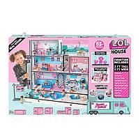 Домик для кукол ЛОЛ Сюрприз Модный особняк с бассейном и с семьей лол - LOL Surprise House 555001, фото 9