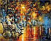 Раскраска по номерам Поцелуй на скамейке худ Афремов, Леонид (VP359) 40х50 см