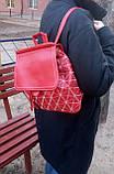 Рюкзак женский красный, фото 3