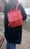 Рюкзак женский красный, фото 2
