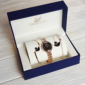 Женский подарочный набор. Часы, браслет, кулон + Подарок