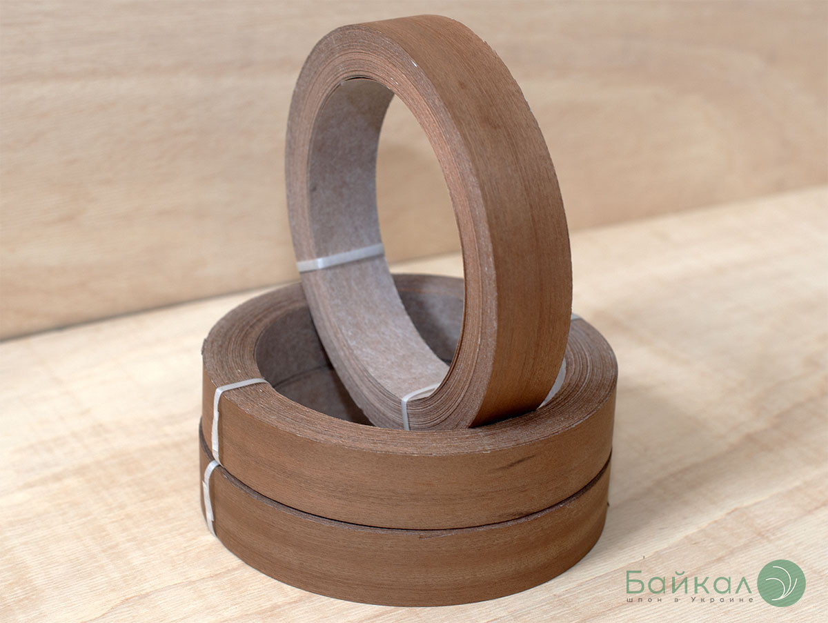 Кромка мебельная Сапели (натуральная) - без клея