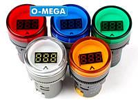 Вольтметр цифровой AC 60-500V светодиодный синий и белый цвета, фото 1