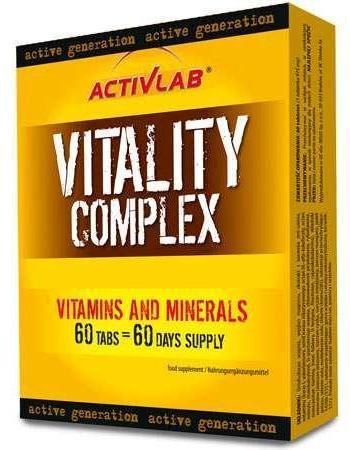 Витамины Activlab Vitality Complex 60 tabs, Активлаб Виталити Комплекс 60 таб