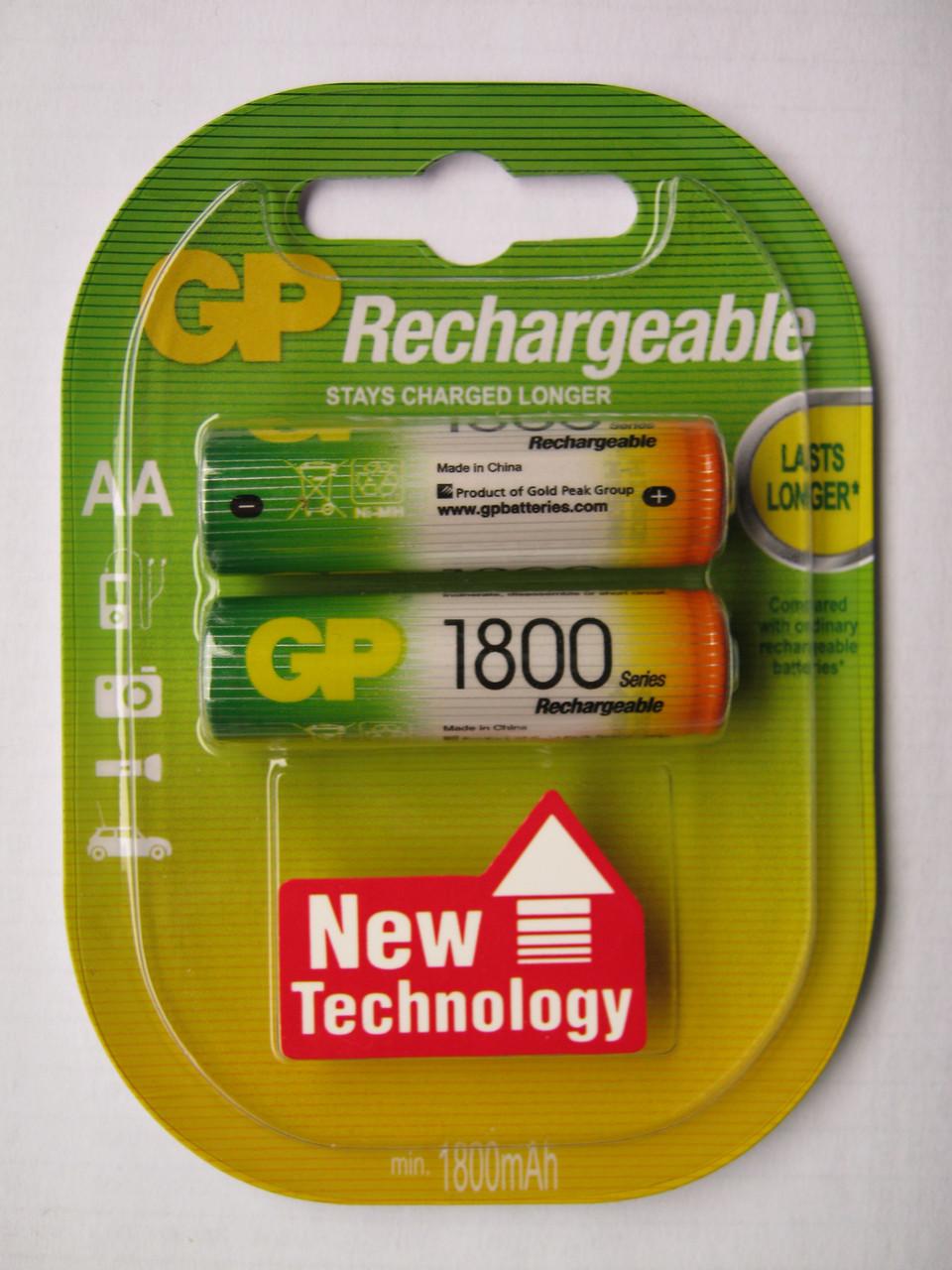 Аккумуляторы GP AA 1800 mAh