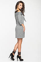 Женское платье в клетку с сеткой на груди(5127ie), фото 3