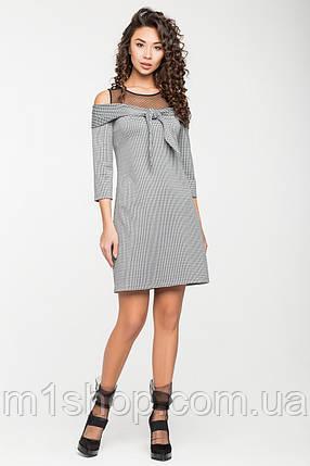 Женское платье в клетку с сеткой на груди(5127ie), фото 2