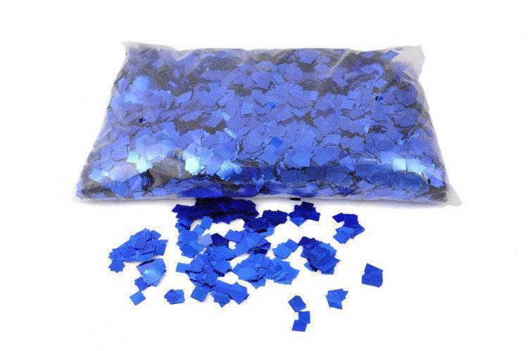 Конфетти синий квадратики 8х8  мм 25 гр.